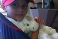 4-yr-old Model, Riley Ramirez, seen with his Little G Plush toy