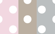 Dot :: Pink + Flax + Silver