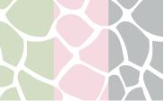 Giraffe :: Celadon + Pink + Silver