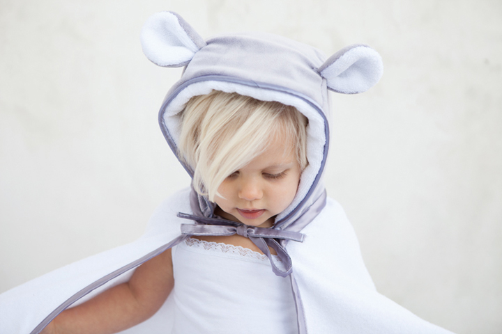 Velvet Hooded Towel