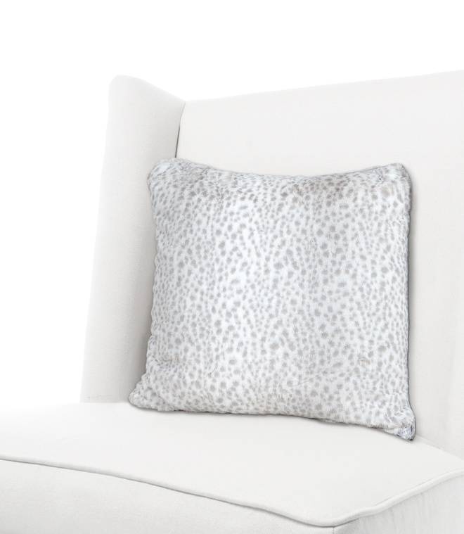 Luxe™ Snow Leopard Throw Pillow