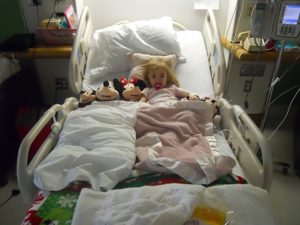 Cambrie's Little Giraffe pillow brings her extra special comfort during the long times she spends at Children's hospital.